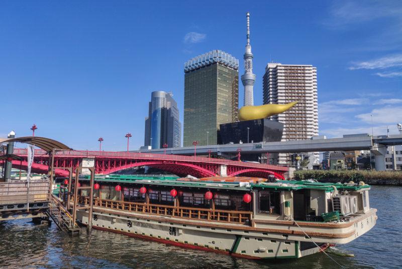 Tokyo's Skytree & Asahi Flame in Asakusa