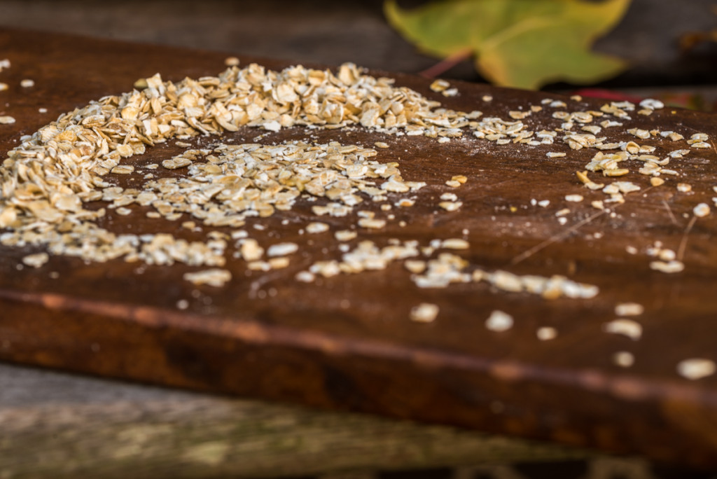 oats on a wooden board