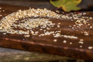 oats on a wooden board