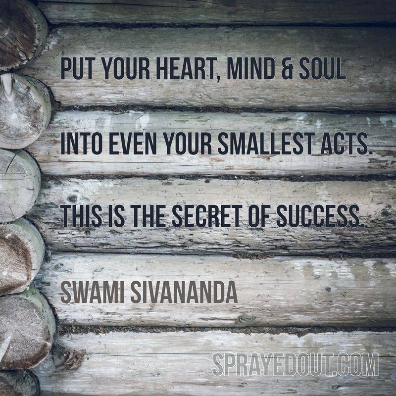 Swami Sivananda Quote on Success