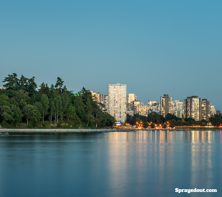 Second Beach, Stanley Park & Vancouver Downtown