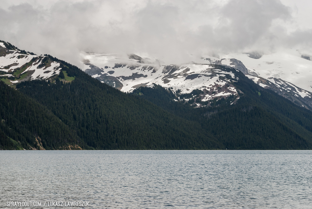 Closer Look on Garibaldi Lake Mountains
