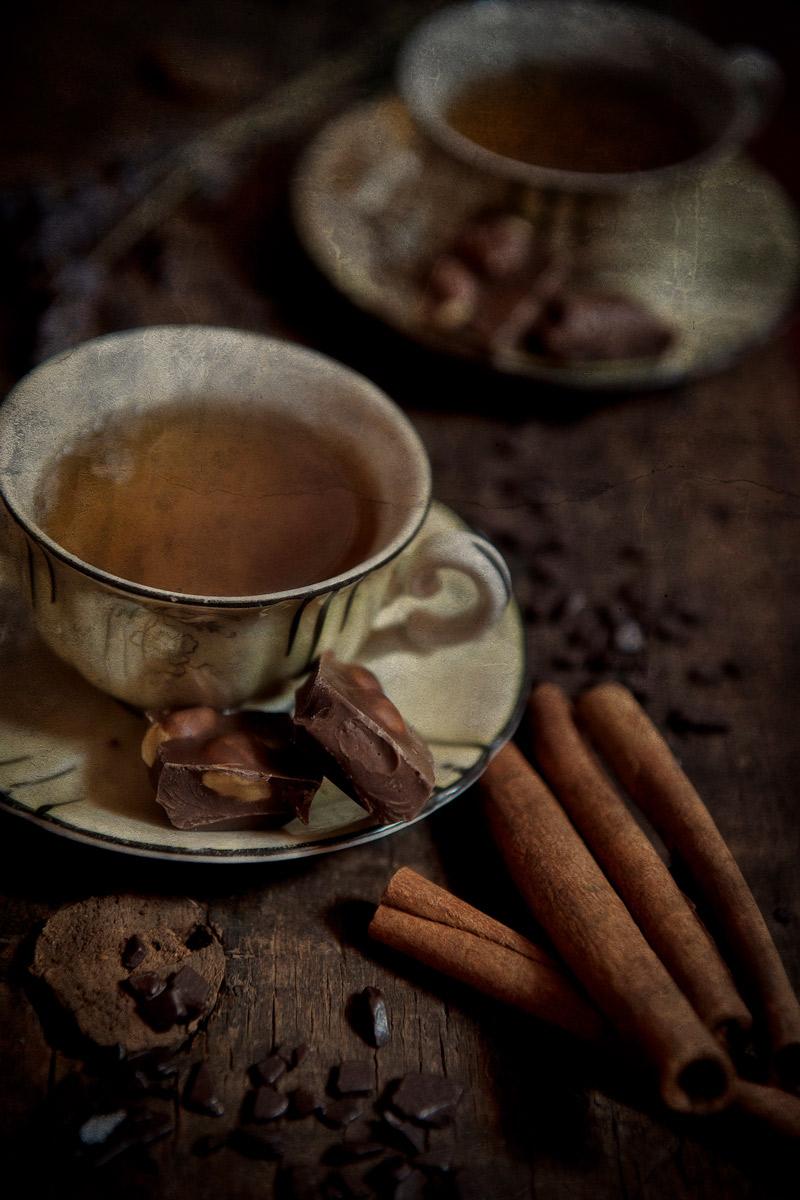 Coffee, Chocolate and cinnamon sticks