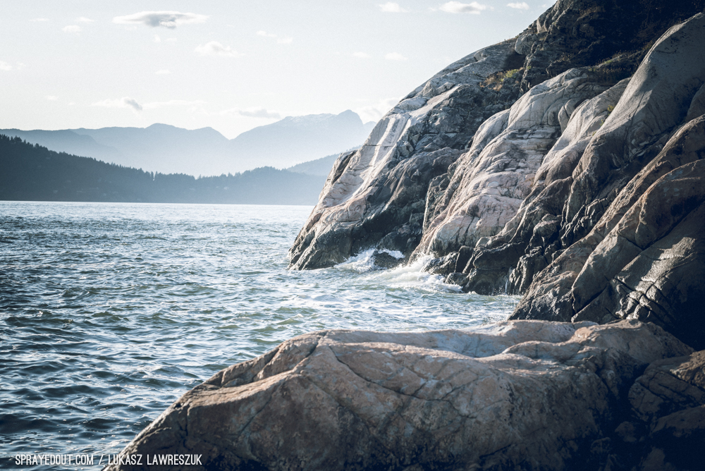 Ocean Waves and Rocks in Lighthouse Park