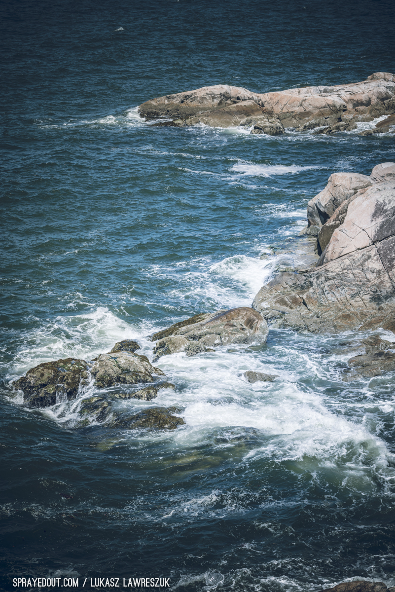 Ocean Waves Crushing on Rocks in West Vancouver's Lighthouse Park