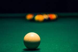 Billiard Balls with Focus on White Ball