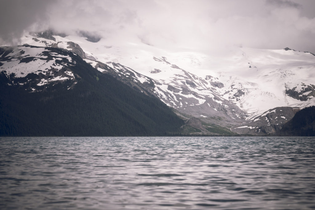 Garibaldi Lake & Mountains on a Cloudy Day