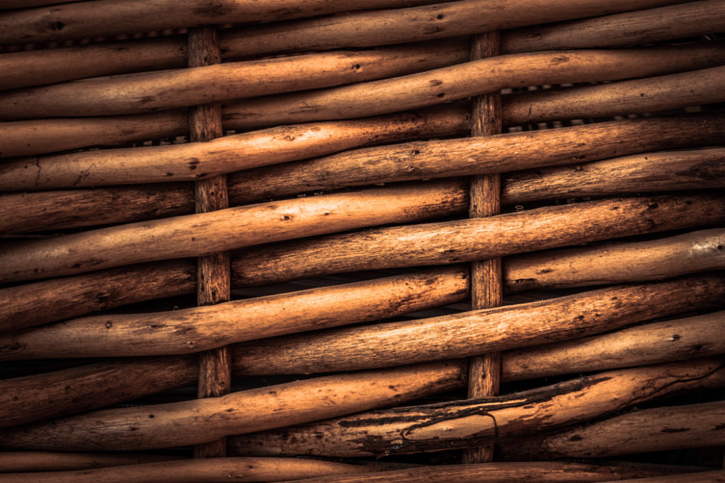 Closeup Picture of Wicker Basket Pattern