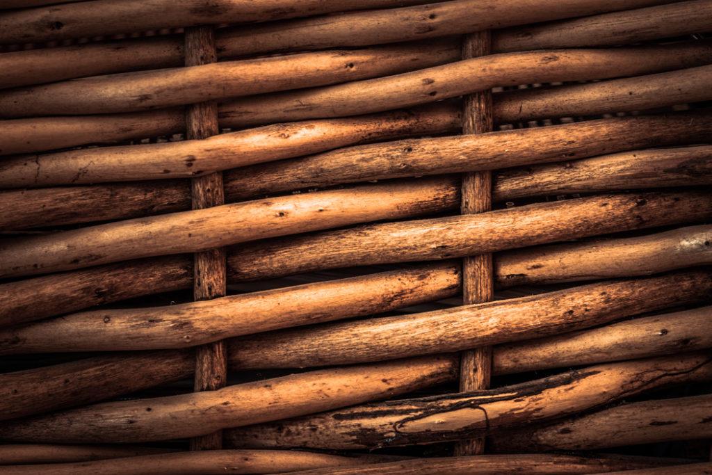 Closeup Picture of Wicker Basket Pattern