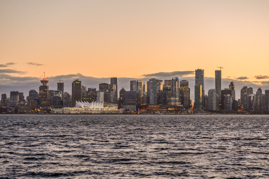 Picture of Vancouver Downtown at Sunset from North Vancouver