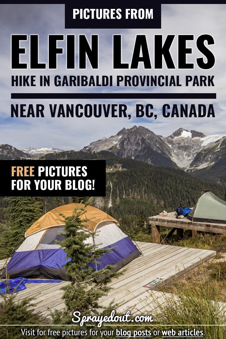 Elfin Lakes campground in Garibaldi Provincial Park