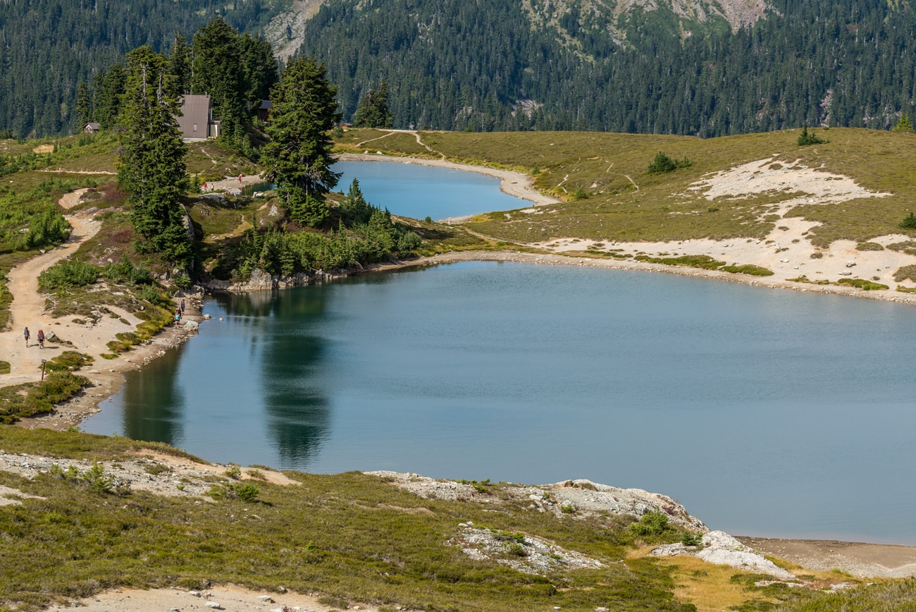 Elfin Lakes - one lake to swim in, and second with water to drink.