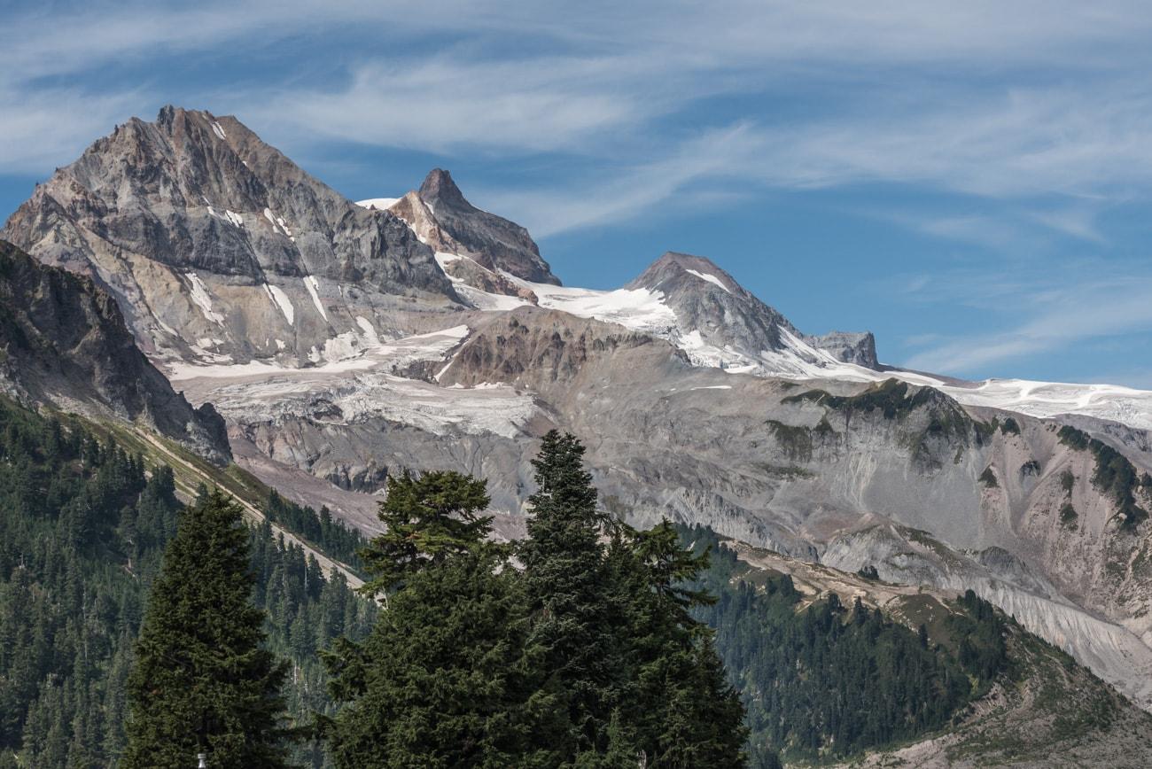 Atwell Peak seen from Elfin Lakes in Garibaldi Provincial Park.