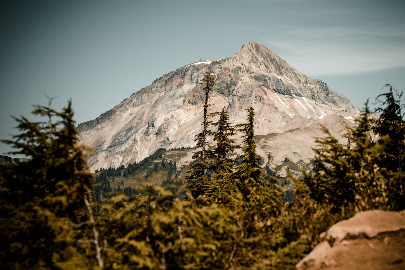 Mountain peak on the way to Elfin Lakes in Garibaldi Provincial Park.