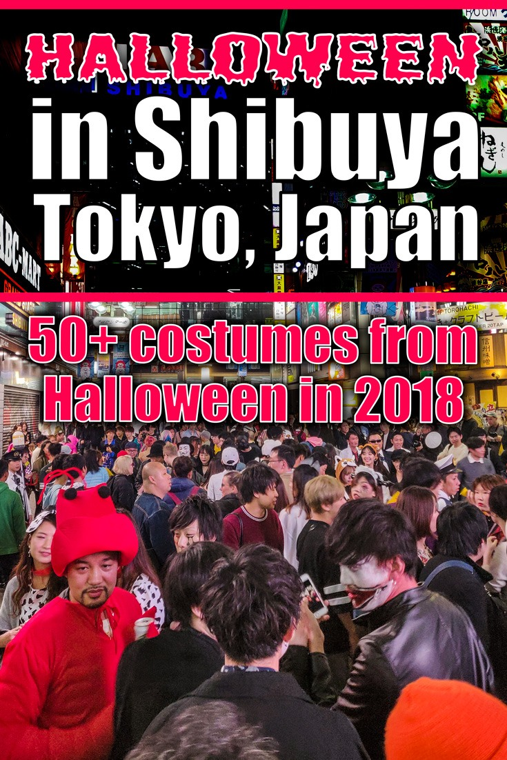 2018 Halloween Costumes and Makeup Looks from Shibuya in Tokyo, Japan for Inspiration