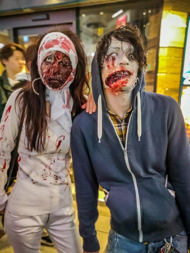 Halloween Costume of Zombie Couple