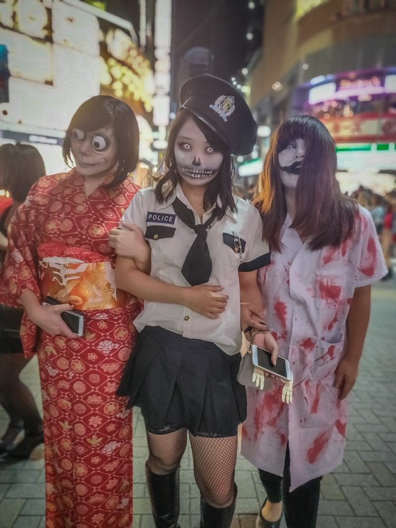 Japanese Halloween Costumes: Zombie in Kimono, Police Outfit and a Nurse!