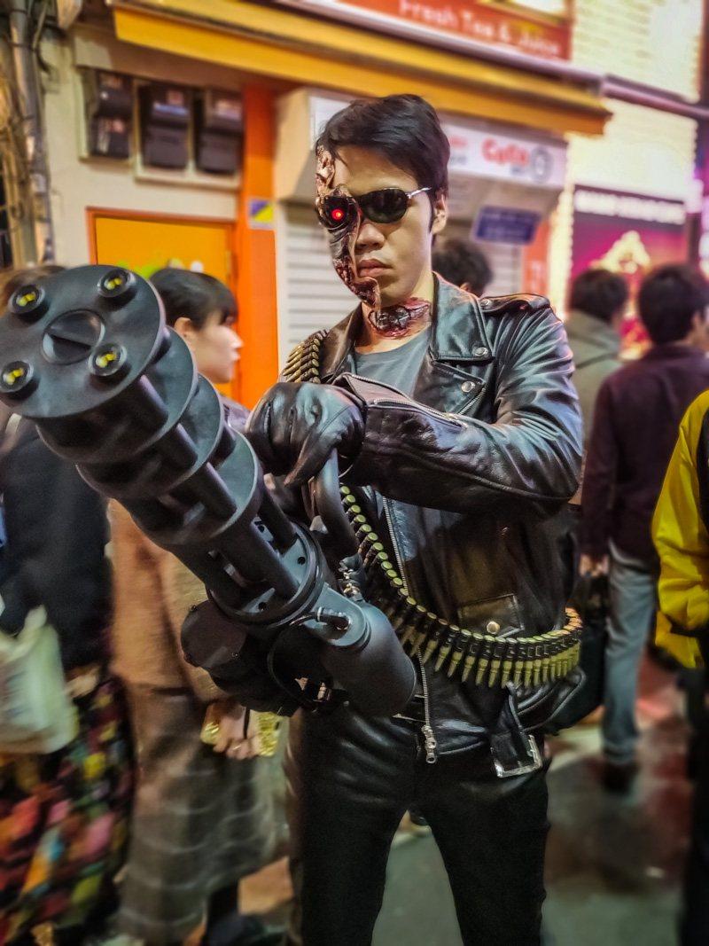 Halloween Costume of a Terminator