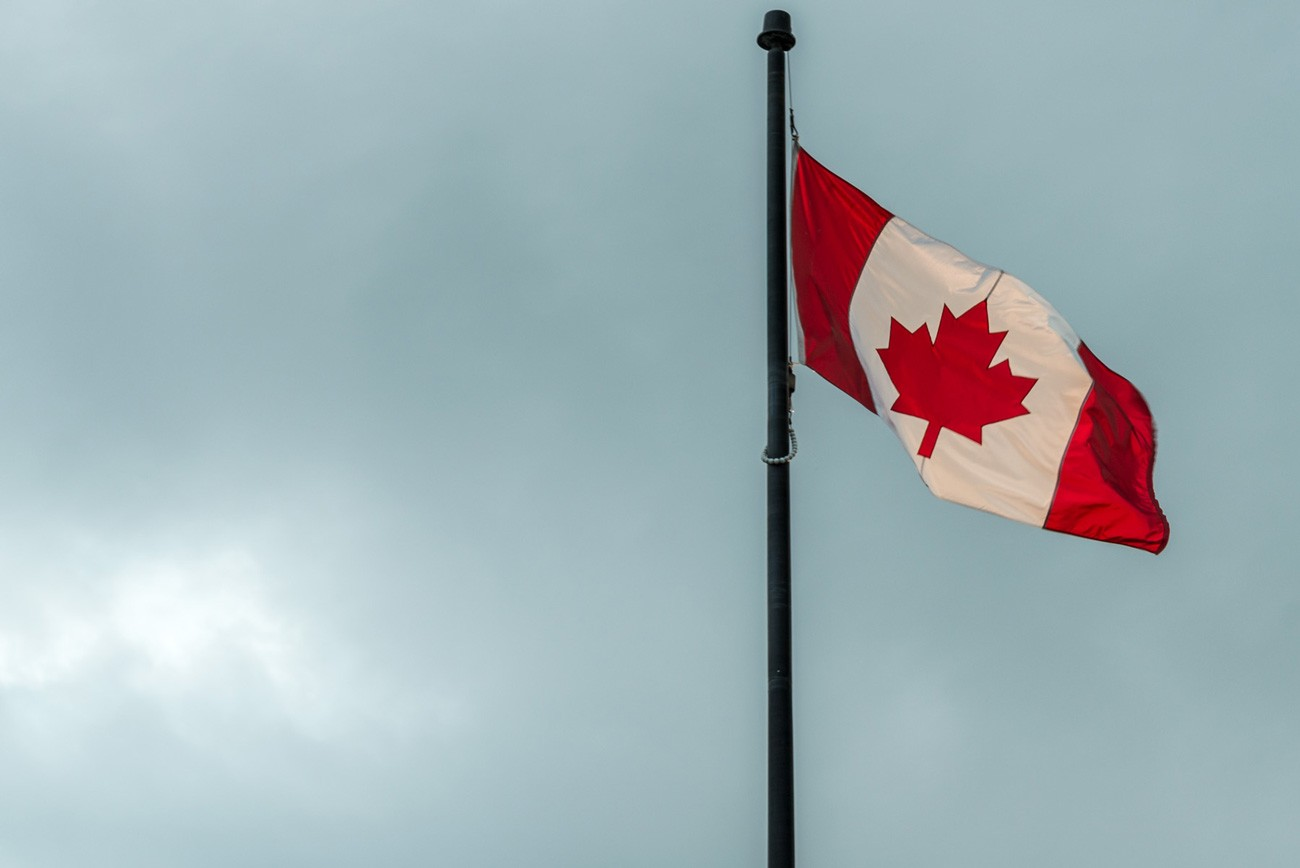The National Flag of Canada. Free Picture for Your Blog or Web Article.