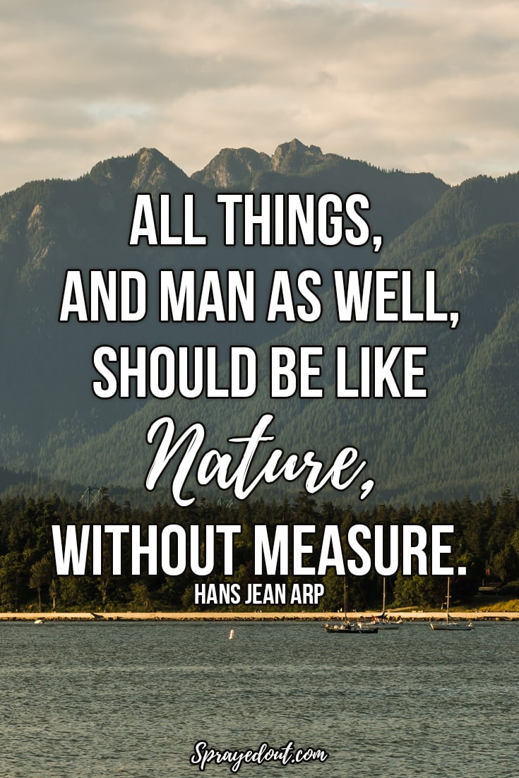 Hans Jean Arp Quote About Nature.