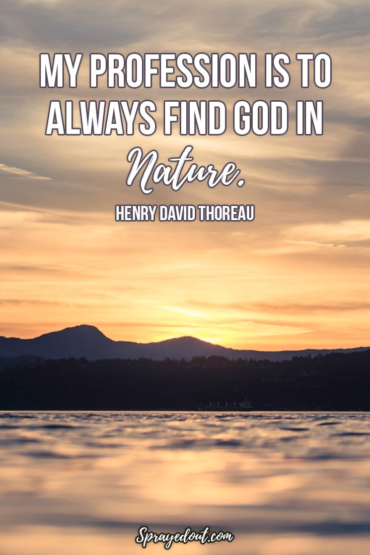 Henry David Thoreau Quote About Nature.