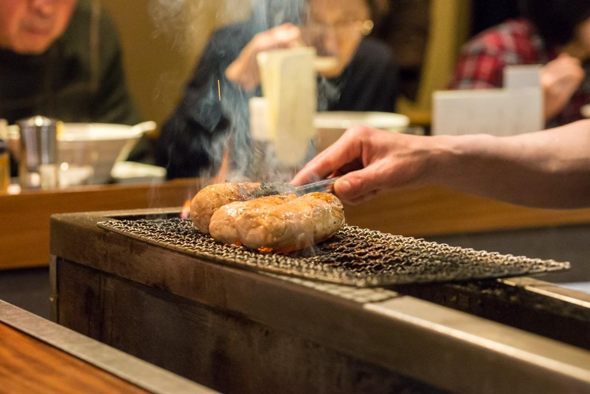 Chicken on a Grill in Menya Imamura