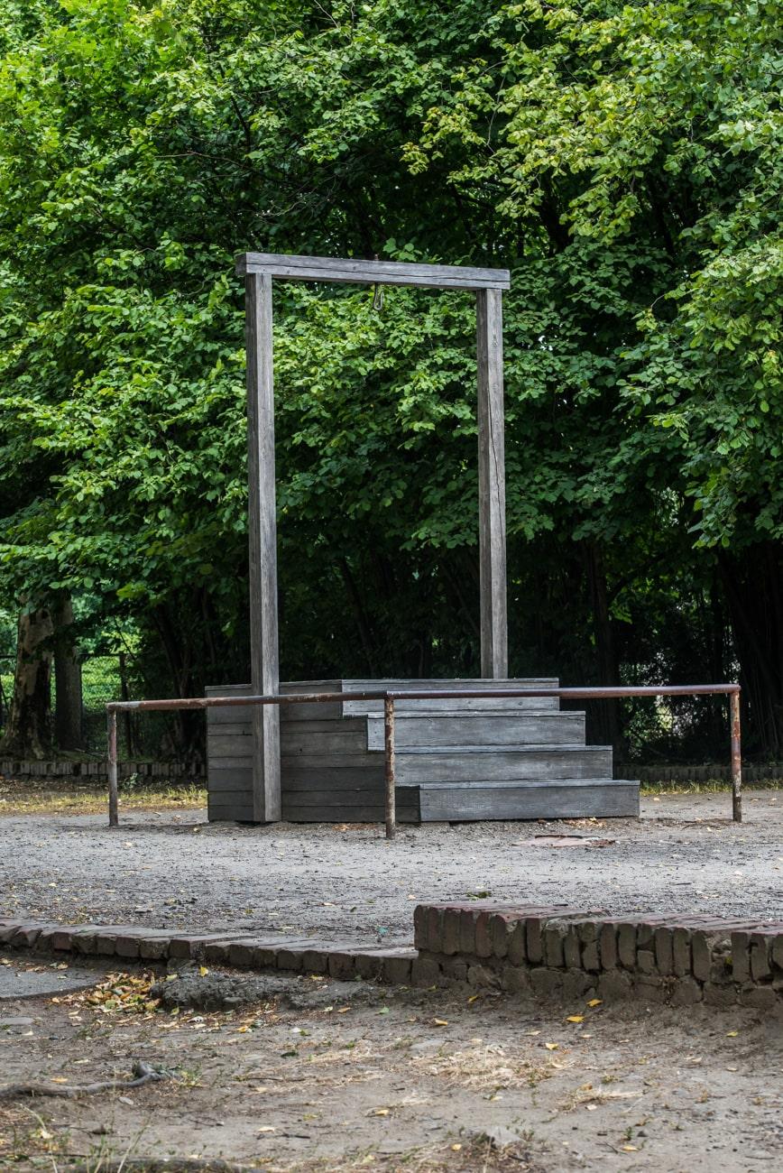 A place where Rudolf Franz Ferdinand Höss was hanged.
