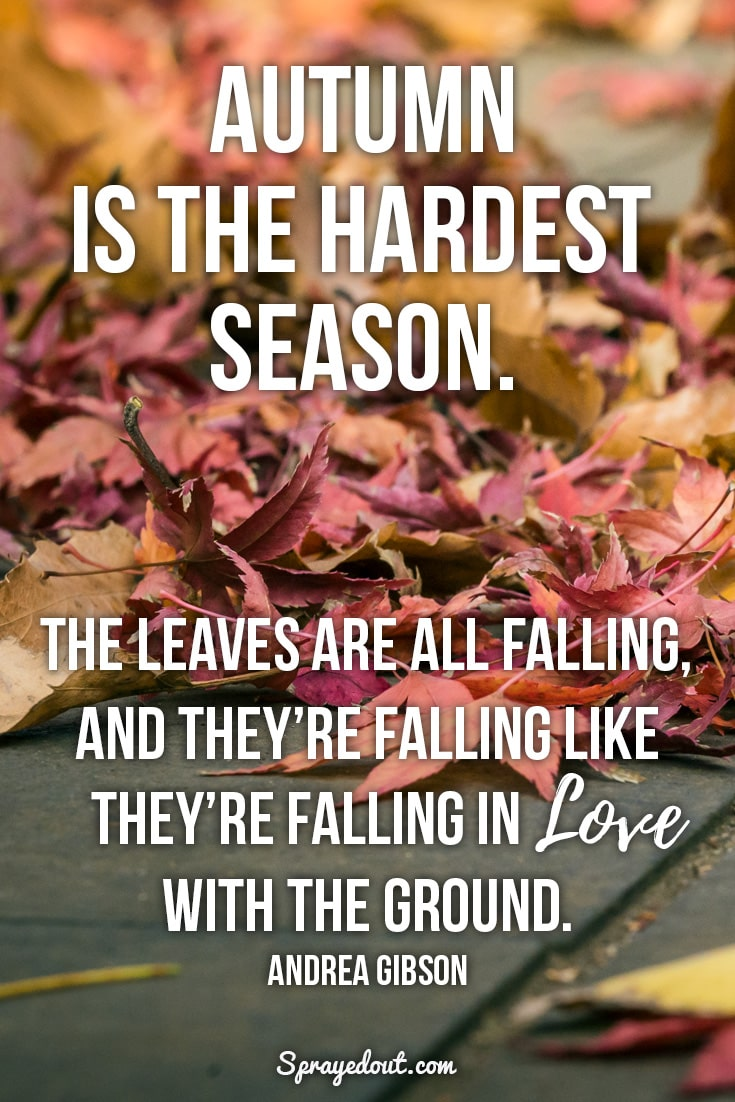 Andrea Gibson quote about autumn season.