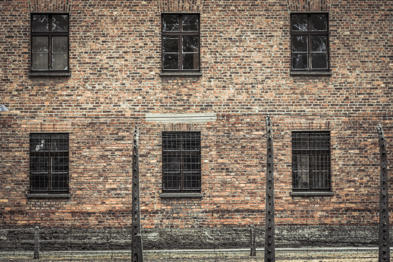 Building Behind the Fence in Auschwitz