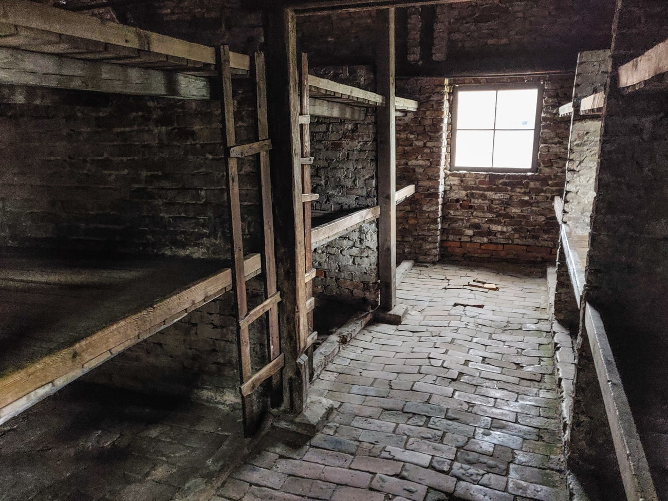 Wooden Bunks for Prisoners in Birkenau Concentration Camp