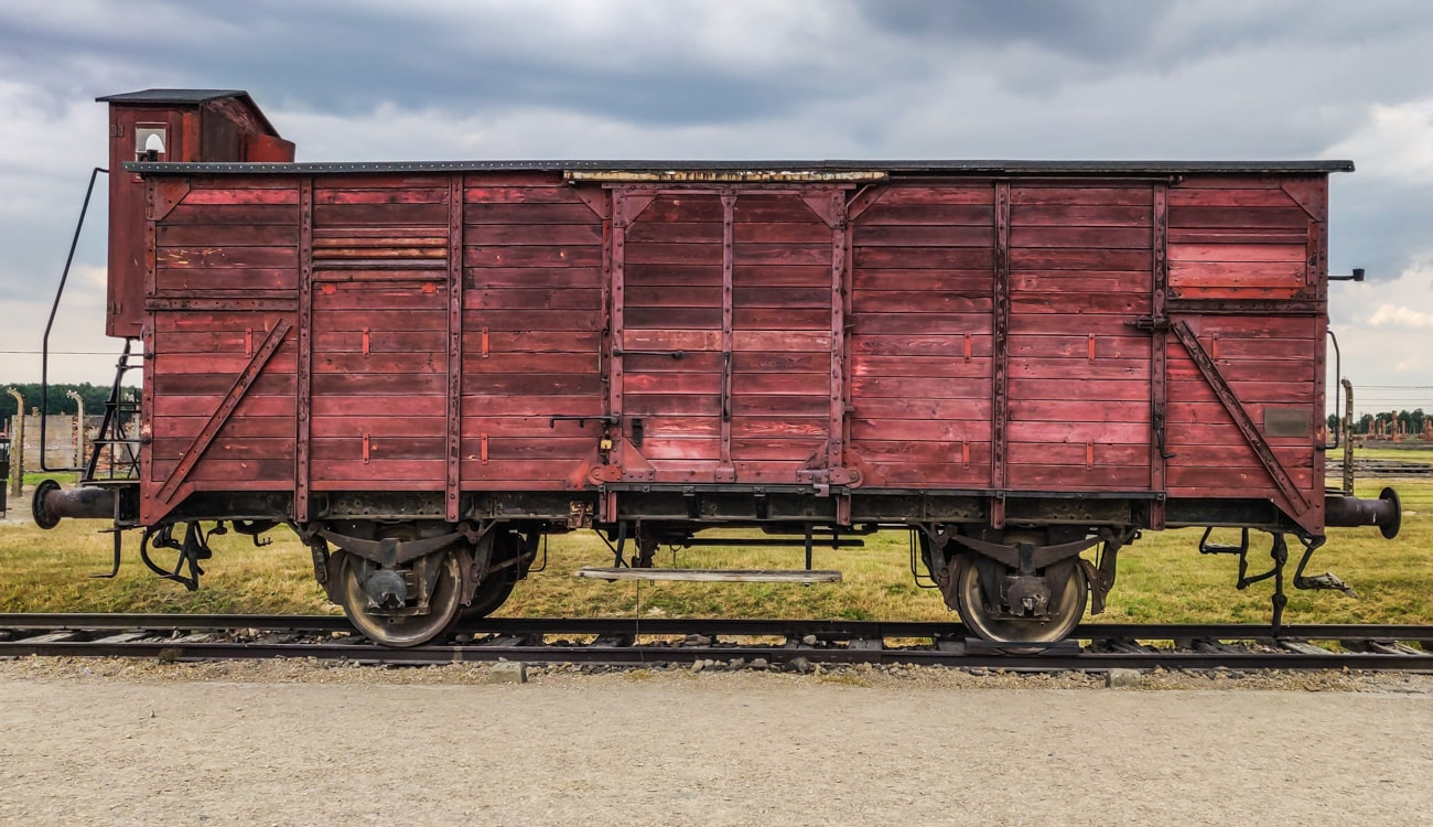 Cattle Train Car in Auschwitz-Birkenau