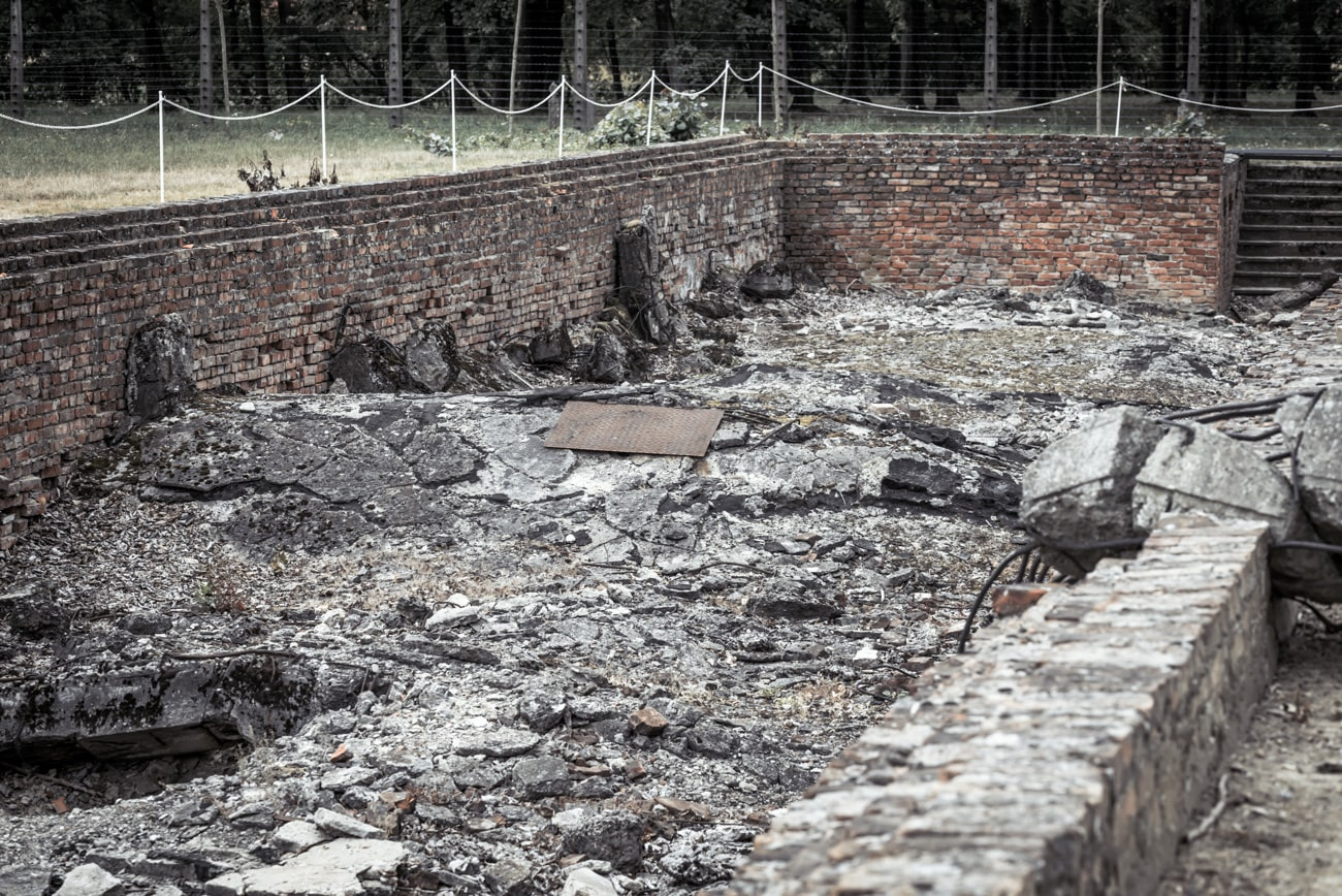 Destroyed Gas Chambers in Auschwitz II Birkenau