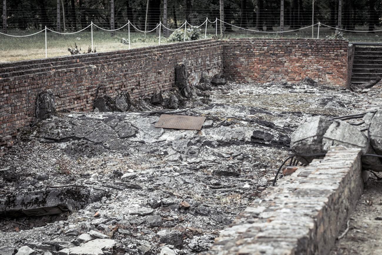 Destroyed Gas Chambers in Auschwitz II Birkenau