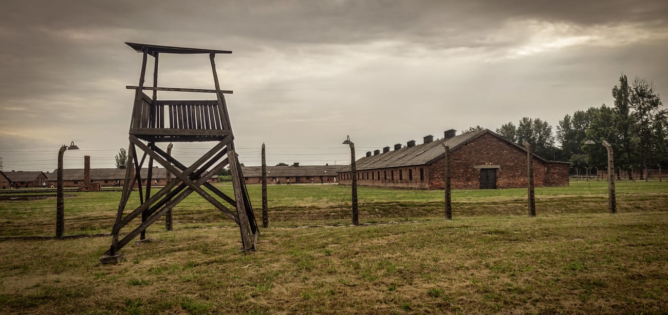 Guard Tower in Auschwitz II Birkenau