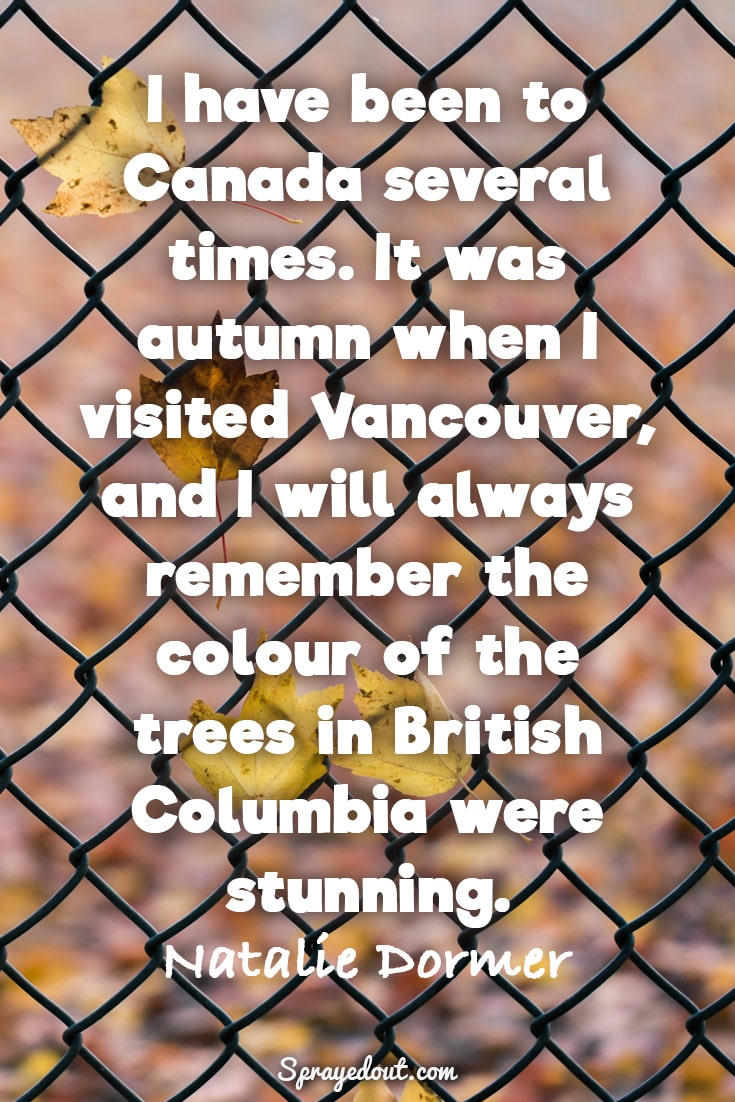 Natalie Dormer quote about autumn.
