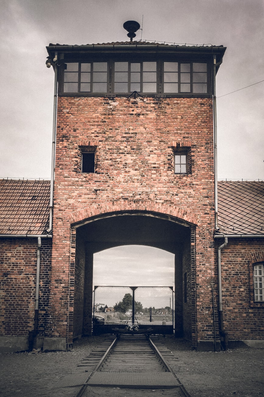 The Gate of Death in Auschwitz-BIrkenau Concentration Camp