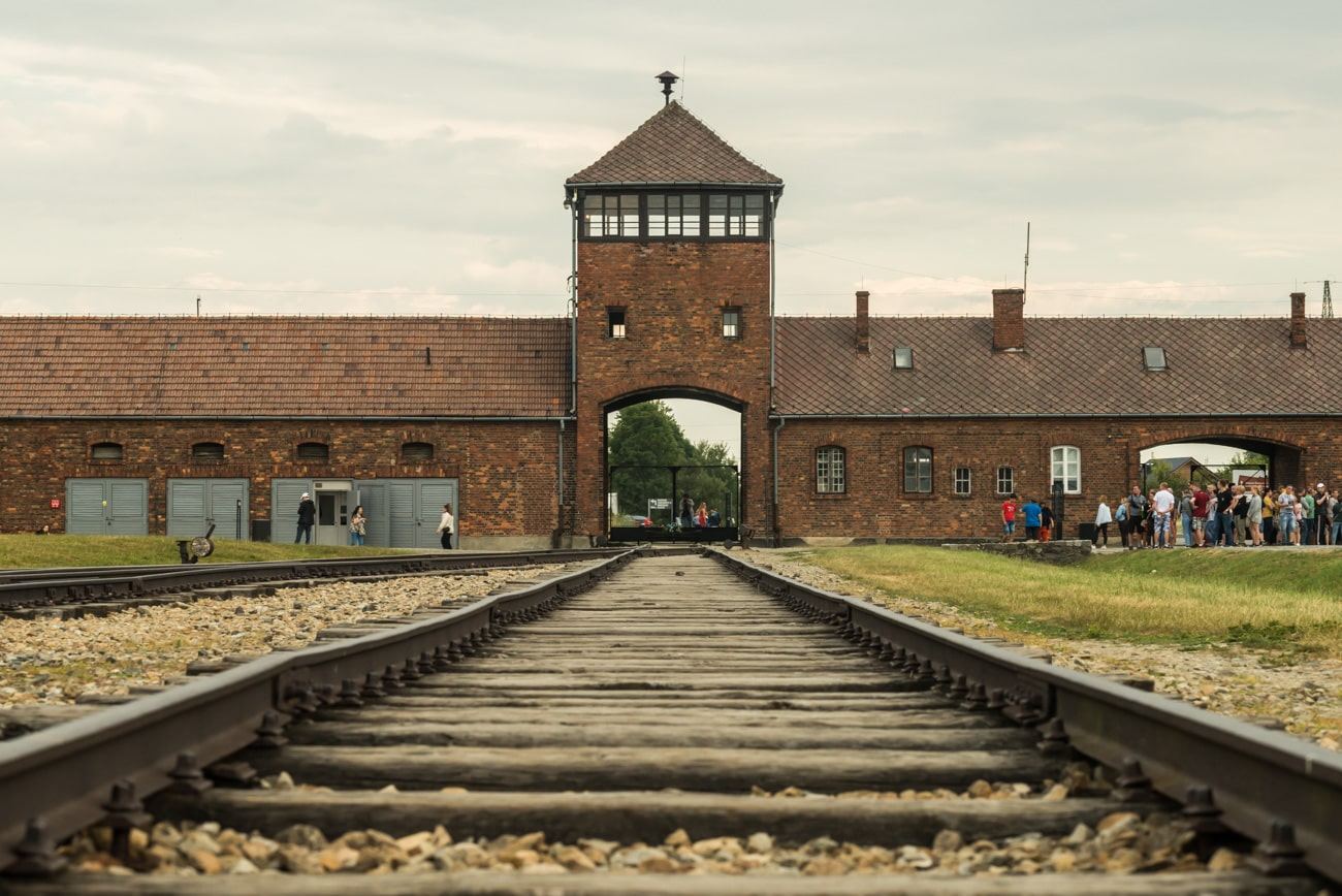 The Gate of Death in Auschwitz-Birkenau