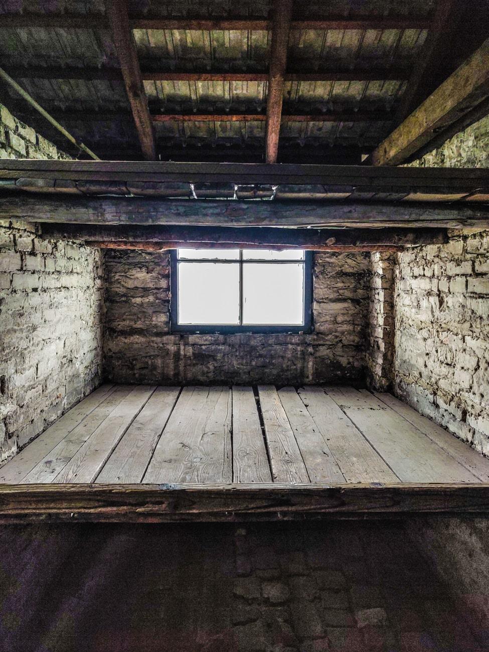 Wooden Bunks in Birkenau Barracks