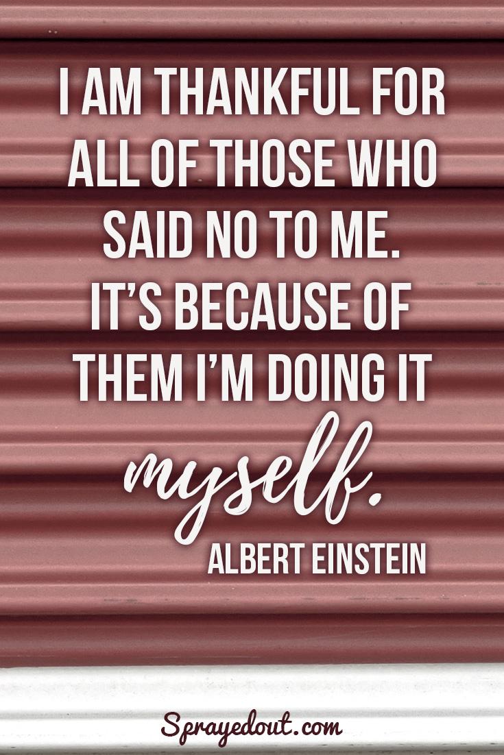 Inspirational Quote by Albert Einstein.