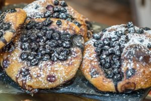 Blueberry Sourdough Sweet Focaccia Bread from Terra Breads.