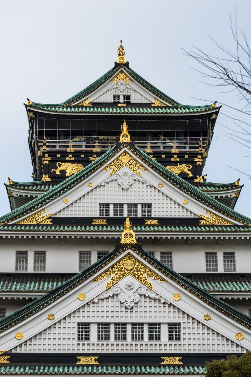 Closeup Picture of Osaka Castle