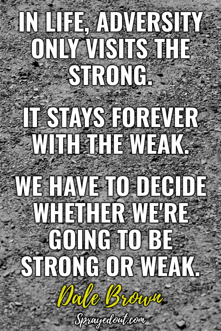 Motivational Quote on Being Strong by Dale Brown.