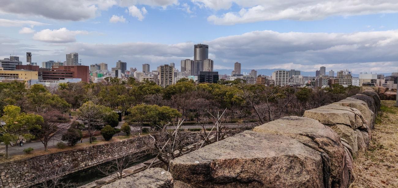 A beautiful view from a Kakushi-Kuruwa Bailey area.