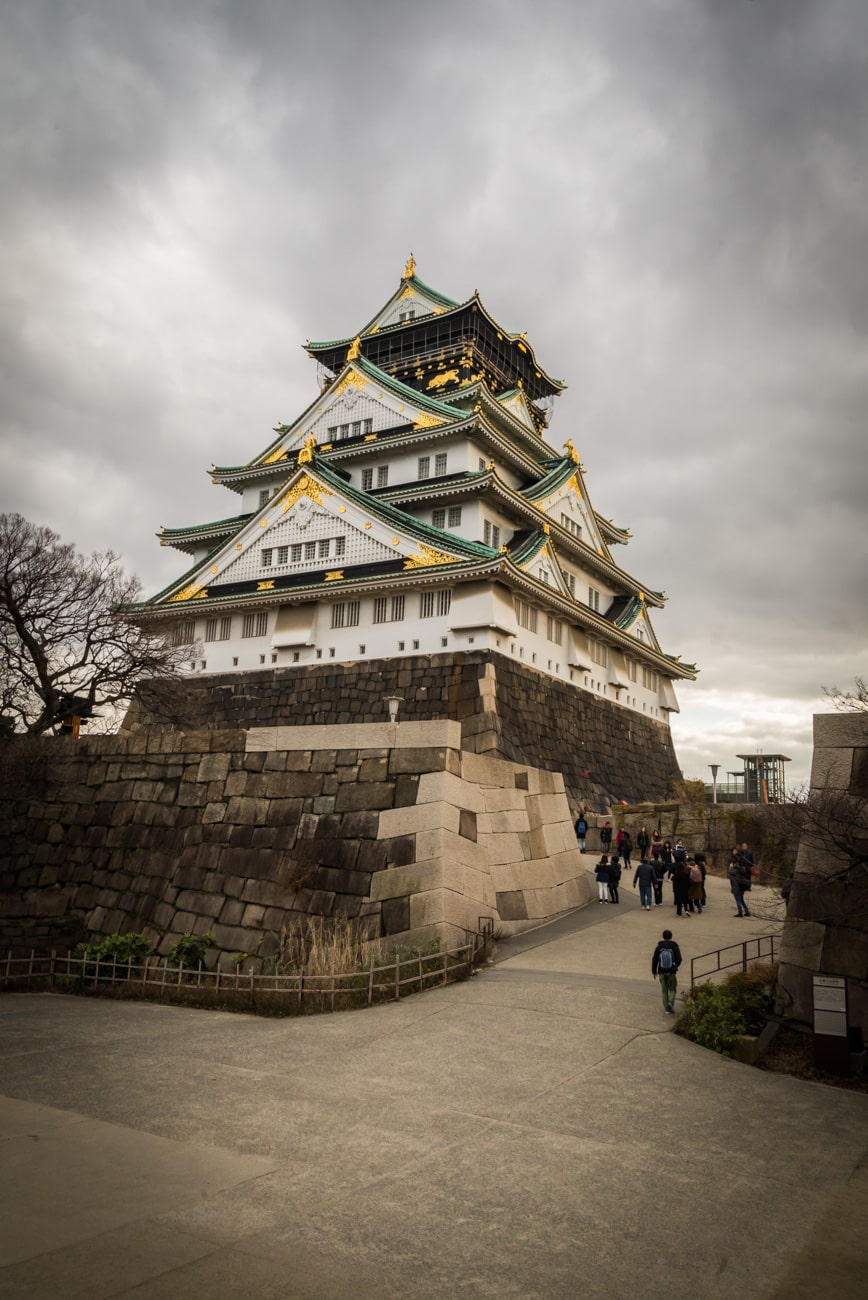Osaka Castle and Site of Himemon Gate