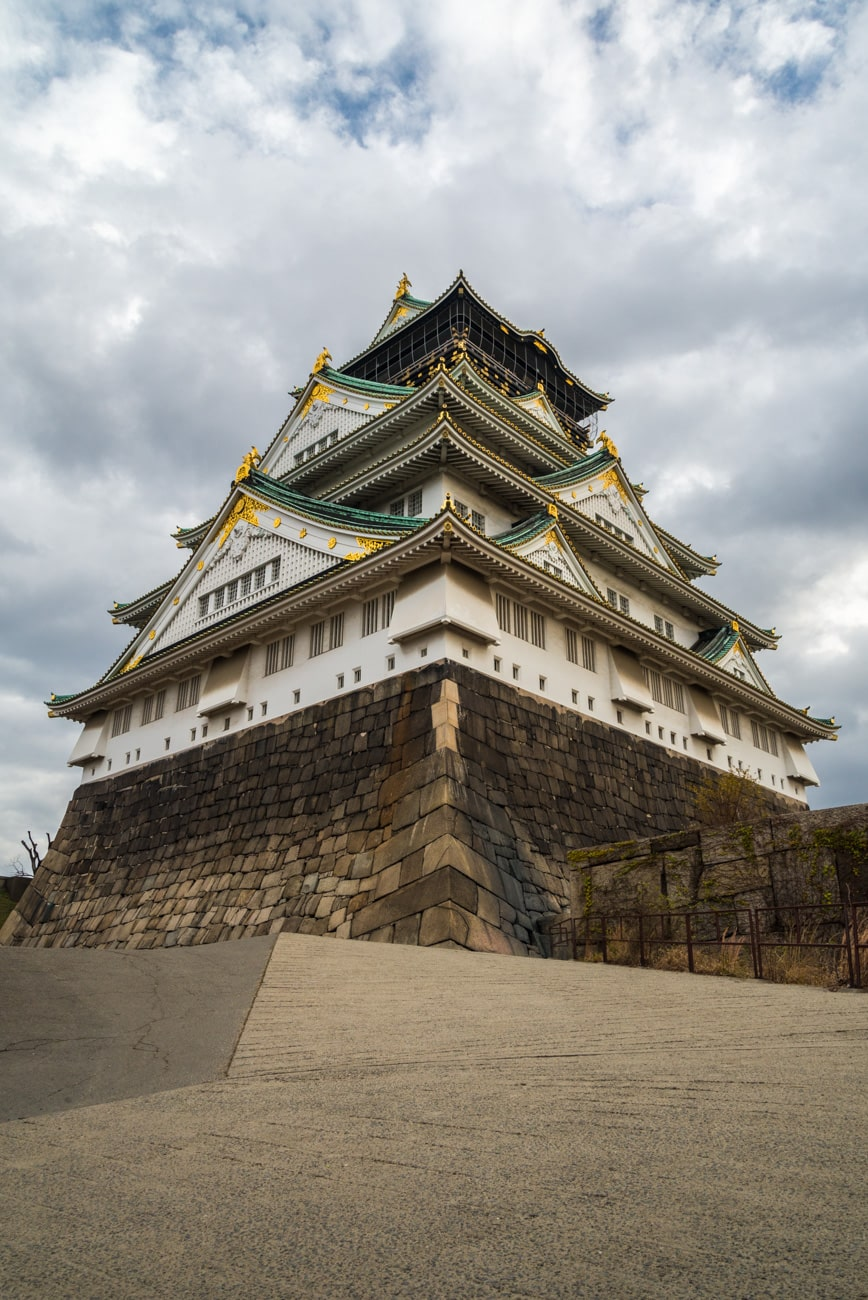 Osaka Castle from the Himemom Gate