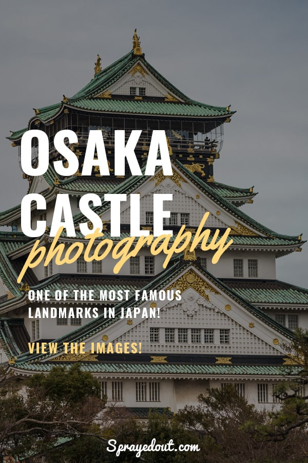 Osaka Castle, closeup picture of this Iconic Landmark in Japan.