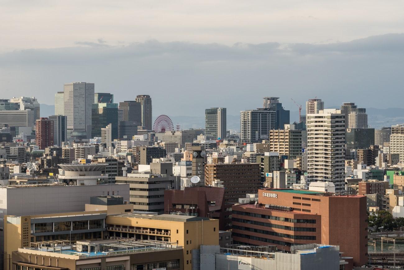 Osaka Cityscape from Osaka Castle