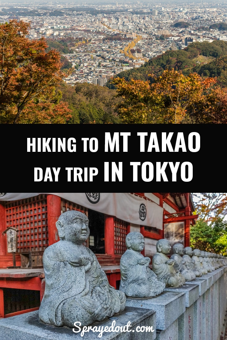Hiking Mt Takao, day trip in Tokyo.
