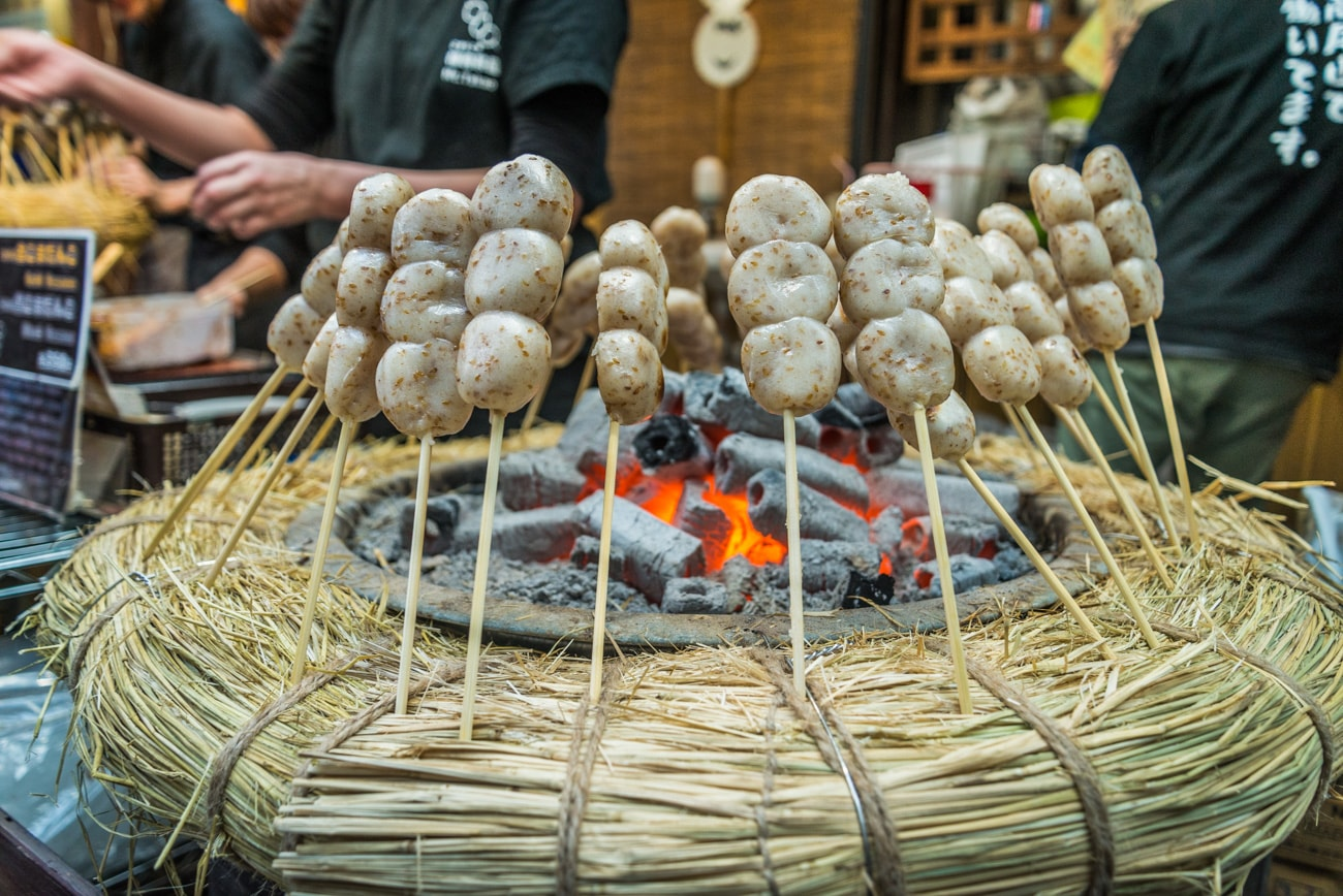 Goma Dango: Sesame Rice Stick at Mt. Takao