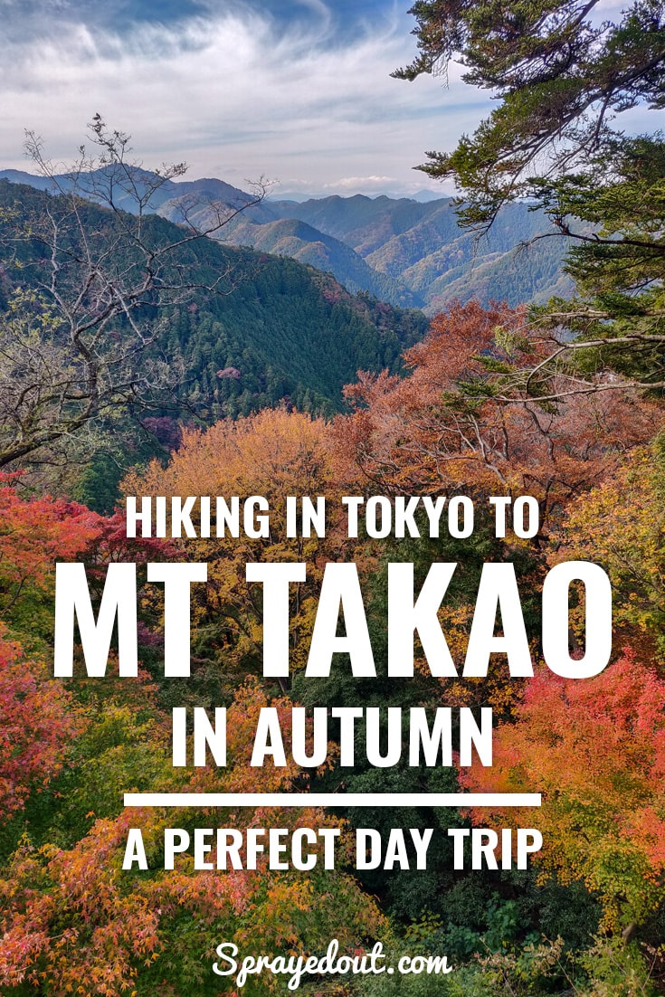Hiking in Tokyo to Mt Takao in Autumn